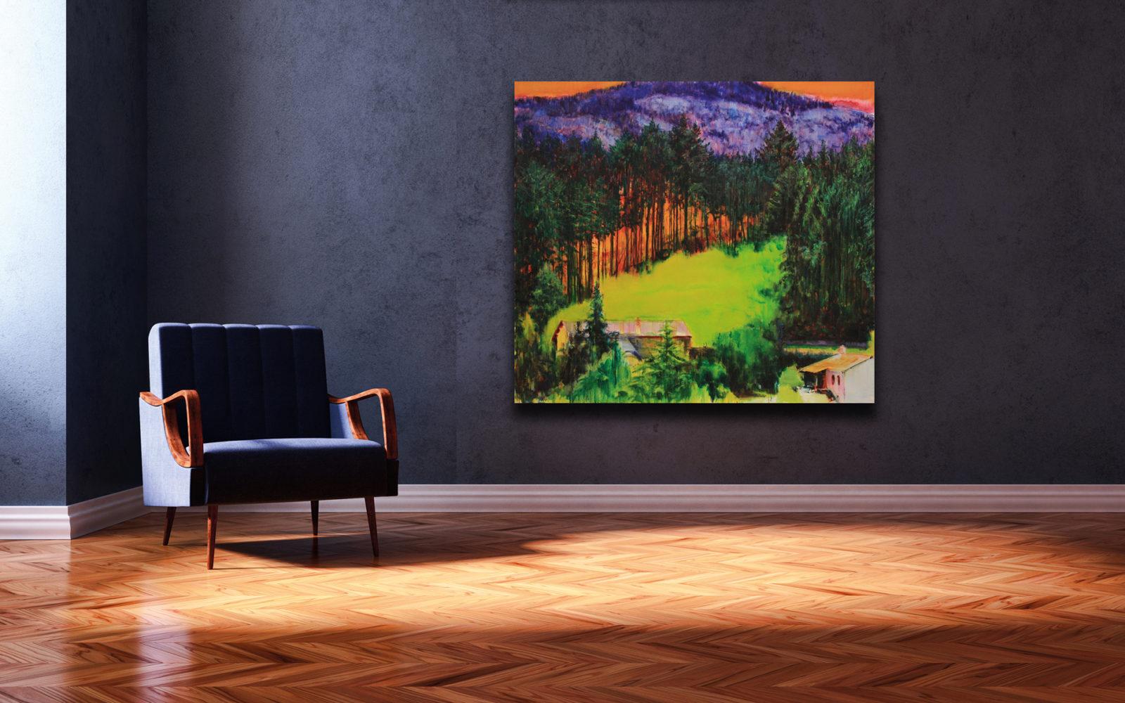 Hans Bruyneel - olie op doek - Le Village 125/140 cm