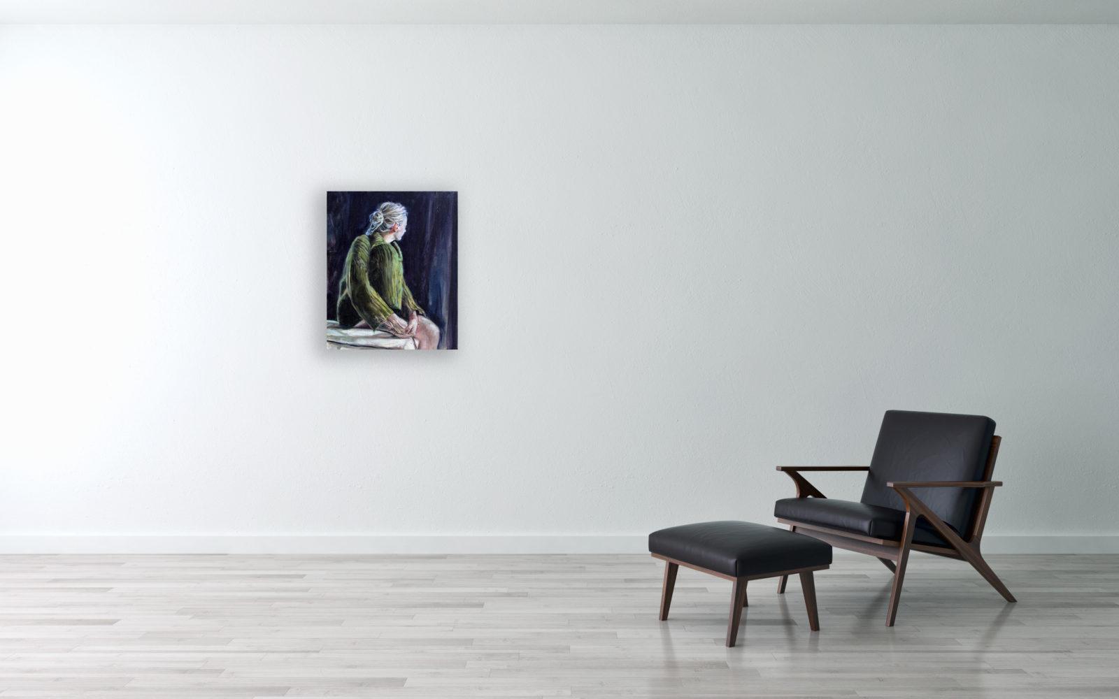 Daydreamer - olie op doek - 50 x 60 cm