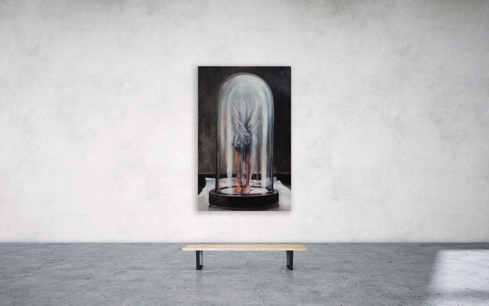 The globe - olie op doek - 140 x 90 cm